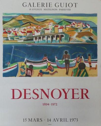 DESNOYER François (1894-1972) (3 affiches) VERNET-LES-BAINS -GALERIE GUIOT (1973)-CHARTRES...