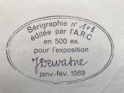DEWASNE JEAN (1921-1999) COMPOSITION Silkscreen - Edited by the A.R.C - Bears on...