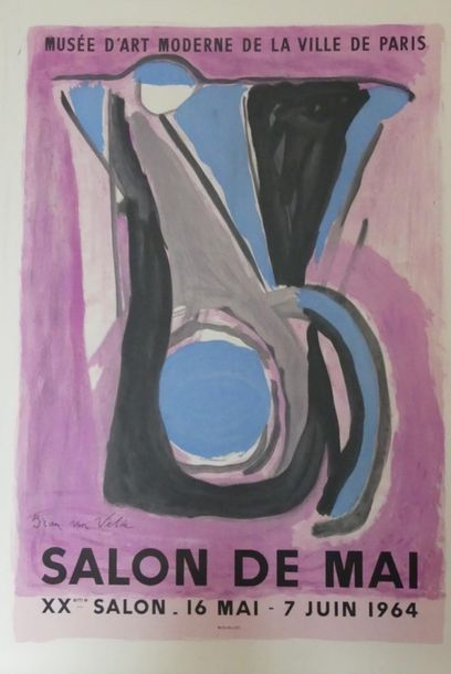 DIVERS (5 Affiches) BRAM VAN VELDE (1964) - André LHOTE (1961) (2) -ROUAULT (1960)-SPIRO...