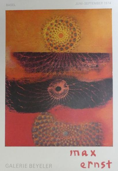 DIVERS (5 Affiches) CESAR (2) -KUPKA (1958) -MATTA (1978) - MAX ERNST (1974) Imp.Mourlot,...