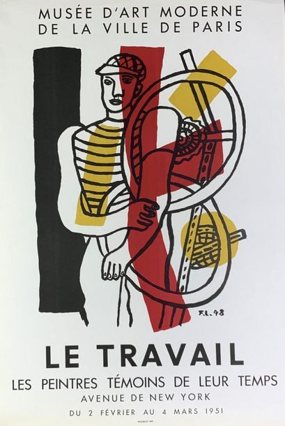 """LÉGER Fernand (1881-1955) Musée d'Art Moderne.LE TRAVAIL(1951) & Galerie Louise Leiris.""""LA..."""