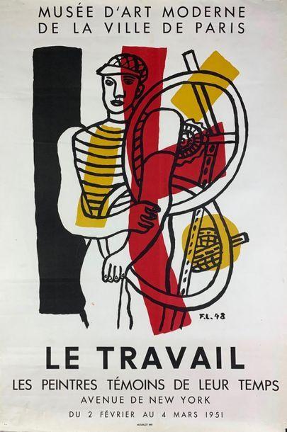 LES PEINTRES TÉMOINS DE LEUR TEMPS (3 affiches) BRAQUE Georges - LÉGER Fernand -VILLON...