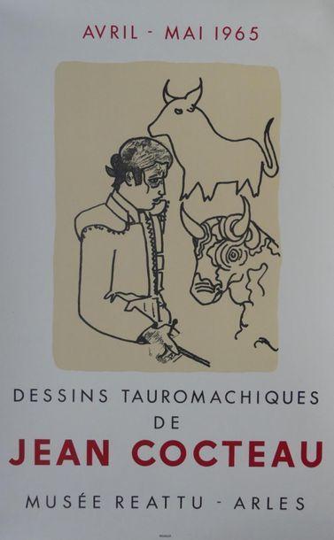 """MOURLOT (imprimerie) (5 affiches) Jean COCTEAU (1965) - LAPICQUE (1962) -""""MATISSE..."""