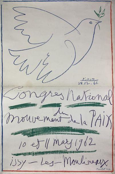 PICASSO Pablo (1881-1973) (2 affiches) CONGRèS MONDIAL du MOUVEMENT de la PAIX, 1962...