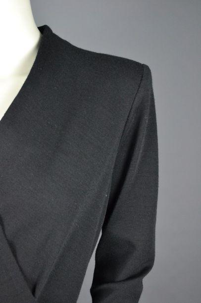 YSL Robe croisée YSL Rive gauche, en laine avec sa ceinture, taille 42,usures sur...