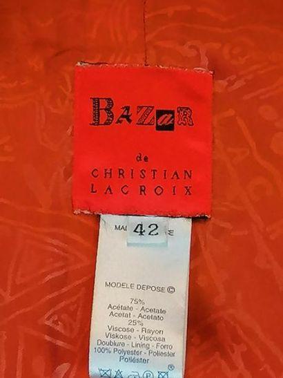 Christian LACROIX Veste BAZAR de CHRISTIAN LACROIX des années 90 en acétate et viscose,...