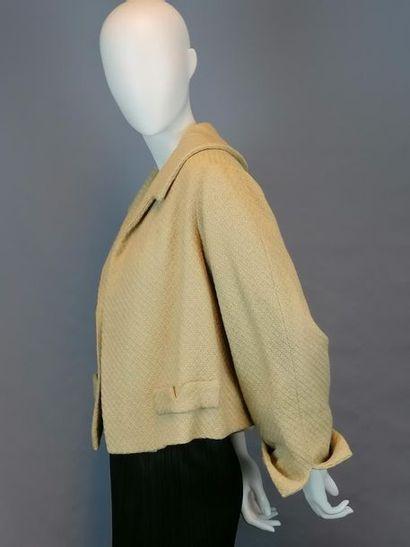 MODE VINTAGE Veste des années fin 50 début 60, en laine , travail de couturière,...