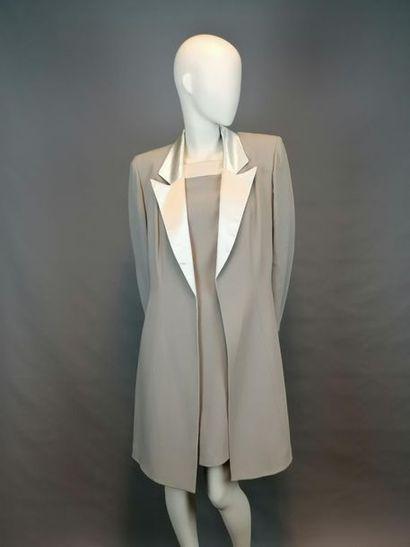 ALLIAGE Ensemble veste et robe de la maison ALLIAGE, des années 90, en soie et mélange,...