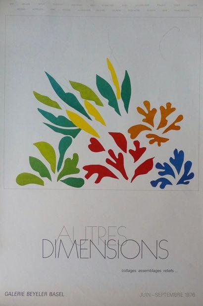 DIVERS (4 Affiches) COCTEAU Jean (Vers 1958)-HAMBOURG (1964)-MATISSE (1976)-MUSÉE...