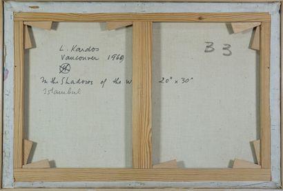 Ladislas KARDOS (1909-2007) La Acropolis 8.Huile sur toile. 50 x 86 cm