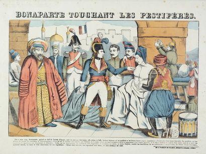 Ensemble de trois images d'Epinal, Napoléon...