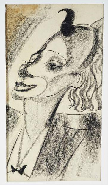 Nicolas STERNBERG (1902-1960) Clown et portraits. Quatre dessins à la plume ou au...