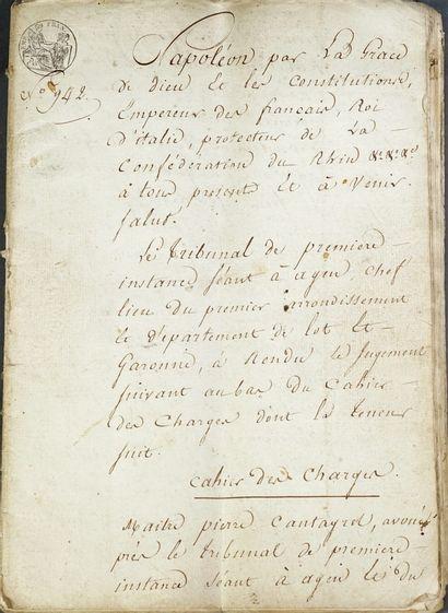 Lot de documents manuscrits, tapuscrits ,...