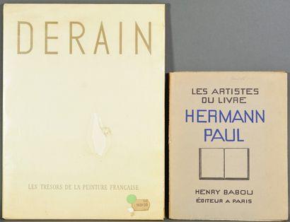Lot de volumes Herman Paul , Derain, Capiello...