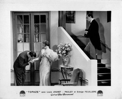 Topaze Louis Jouvet et Edwige Feuillère, film de Louis Gasnier, 1933. Photographie...