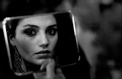 ANGELA MOLINA Tournage du film «Cet obscur objet du désir» de Luis Bunuel, 1977....