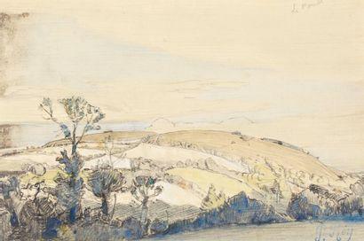Le Pouet, paysage de Sicile Mine de plomb...