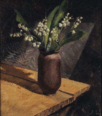 Bouquet de muguet, circa 1908 Huile sur carton...