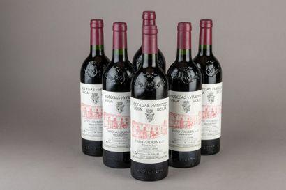 6 bouteilles Espagne: VEGA SICILIA «Valbuena»...