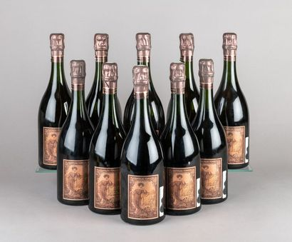 10 bouteilles CHAMPAGNE POMMERY - Cuvée LOUISE...