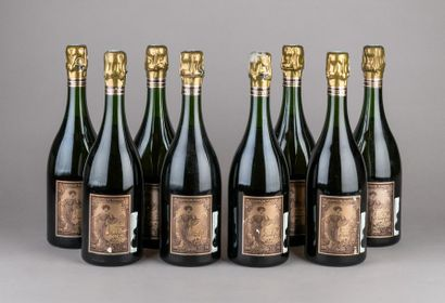 8 bouteilles CHAMPAGNE POMMERY - Cuvée LOUISE...