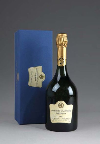 6 bouteilles CHAMPAGNE TAITTINGER COMTES...