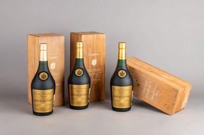3 bouteilles COGNAC «Grande Champagne» CHÂTEAU...