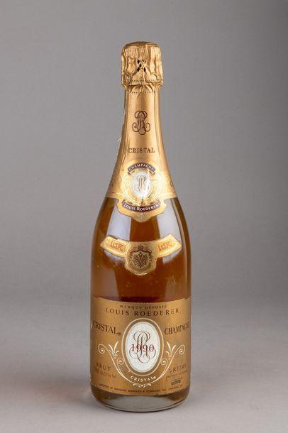 1 bouteille CHAMPAGNE CRISTAL de ROËDERER...