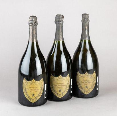 3 magnums CHAMPAGNE DOM PERIGNON 1978 Etiquettes...