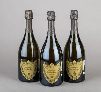 3 bouteilles CHAMPAGNE DOM PERIGNON 1990