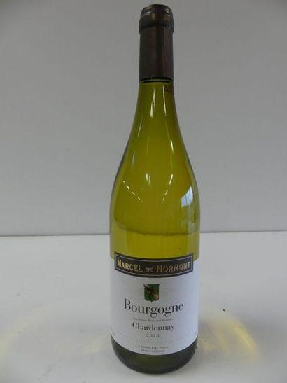 12 Bourgogne Blanc Chardonnay Marcel de Normont...
