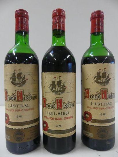 1 lot de 3 bouteilles : 1 Haut Médoc Grand...