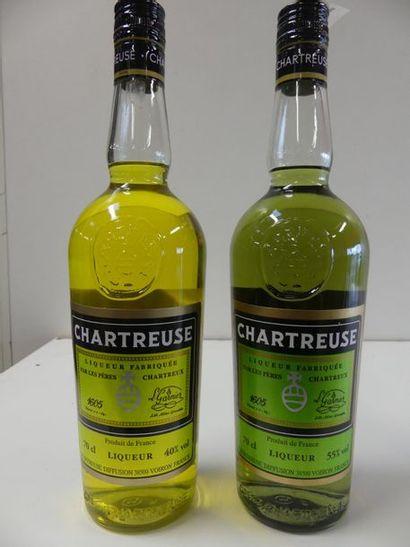 1 lot de 2 bouteilles : 1 Chartreuse Verte...