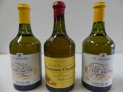 1 lot de 3 bouteilles : 1 Château Chalon...