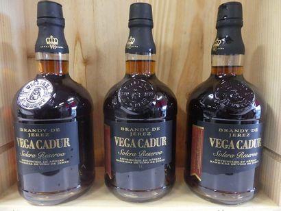 3 Brandy de Jerez Solera Reserva Vega Cadur...