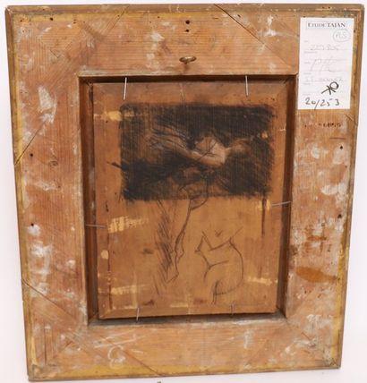 """TABLEAU """" MADELEINE"""" DE Jean Jacques HENNER (1829-1905) Huile sur panneau, signée..."""