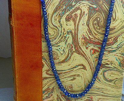 Important et rare collier de saphirs Naturels...