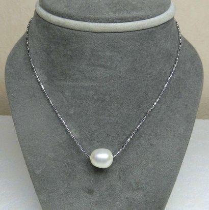 Pendentif perle de culture naturelle diamètre...