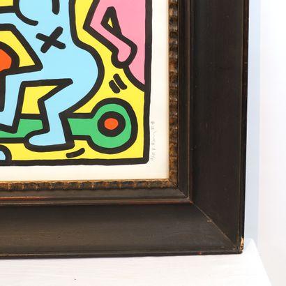 BELLE SERIGRAPHIE DE Keith HARING (1958-1990)  Signé, daté 85 numéroté 58/150 en...