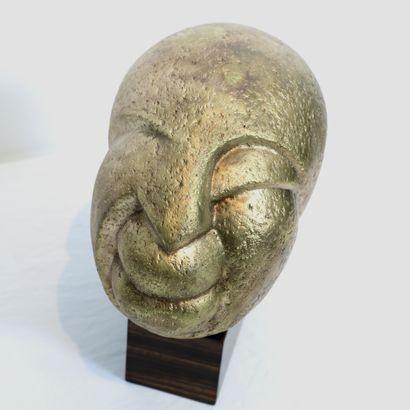 "ZAMOYSKI TRES BELLE SCULPTURE ""TÊTE D'ANTONI STONIMSKI"" D'August ZAMOYSKI (1893-1970)..."