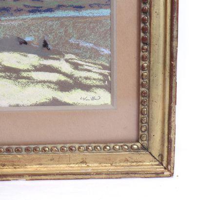 """VUILLARD TABLEAU """" LES NUAGES"""" DE EDOUARD VUILLARD (1868-1940).  Pastel sur papier..."""