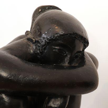 """GRAND ET IMPORTANT BRONZE """"LES PENSÉES"""" d'Antoniucci VOLTIGERO dit VOLTI (1915-1989)..."""