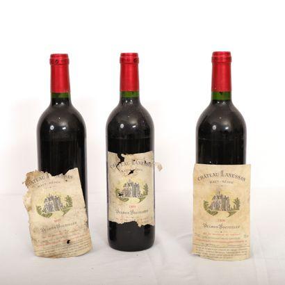 3 Btls Bordeaux, Haut-Médoc Château Lanessan...