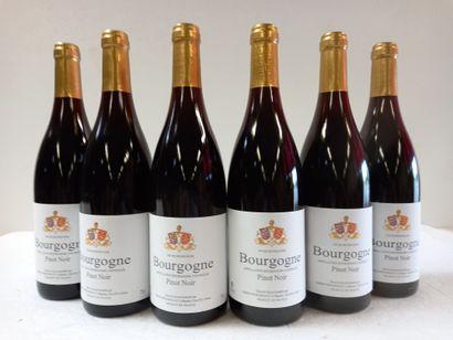 6 Btls Bourgogne Pinot Noir Présumé 2008....