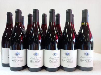12 Btls Brouilly cru du Beaujolais .2012....