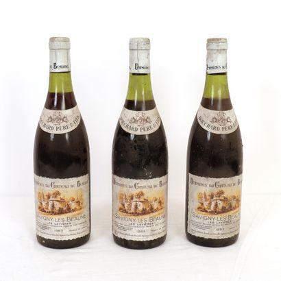 """3 Btls Savigny-Les-Beaune """"Les lavières"""" 1983"""