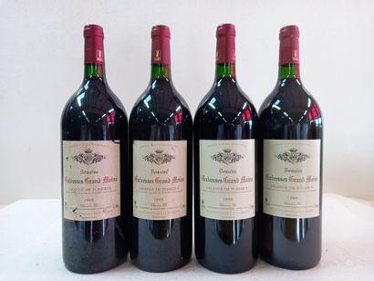 4 Magnums Lalande de pomerol.1998. Domaine...
