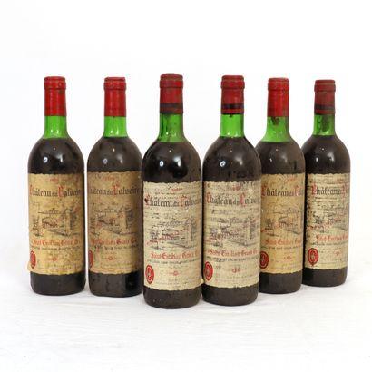 6 bouteilles Saint-Emilion Grand Cru