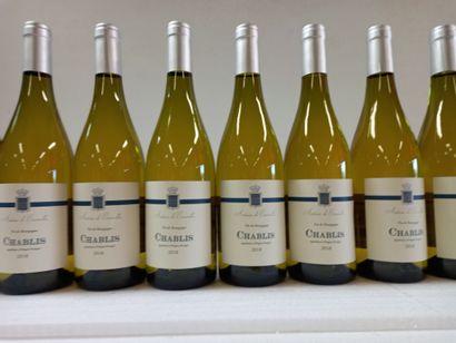 12 Btls Chablis Vin de Bourgogne 2018. Antoine...