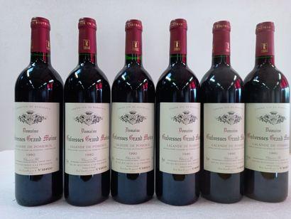 6 Btls Lalande de pomerol 1990 Domaine Galvesse...